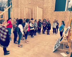 Members of the Junior League of Buffalo's 2017-18 Provisional Class toured construction of the Massachusetts Avenue Project's Food Training and Resource Center. The Junior League of Buffalo donated $300,000 to the project with proceeds from the 2013 Decorators' Show House.